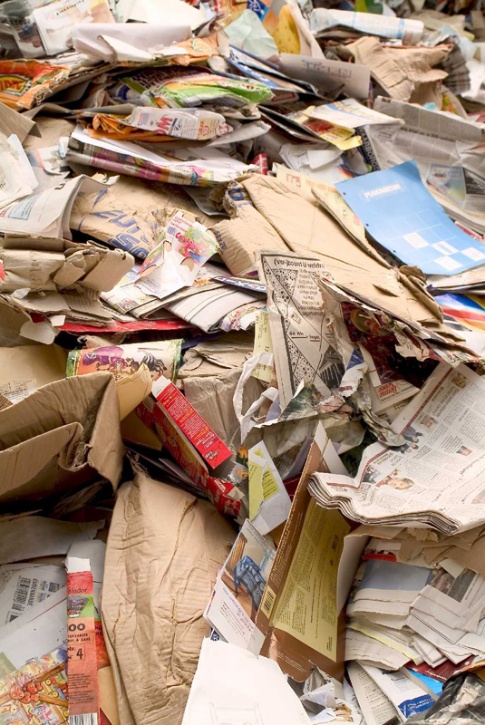 can paper with writing on it be recycled